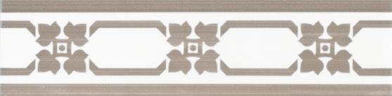 Grazia Listello Cottage Taupe 5x20 Bílá, Hnědá COTL5