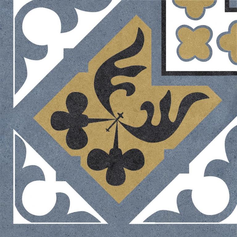 Codicer Angulo Orleans Blue 25x25 Modrá, Černá, Bílá, Žlutá 7162