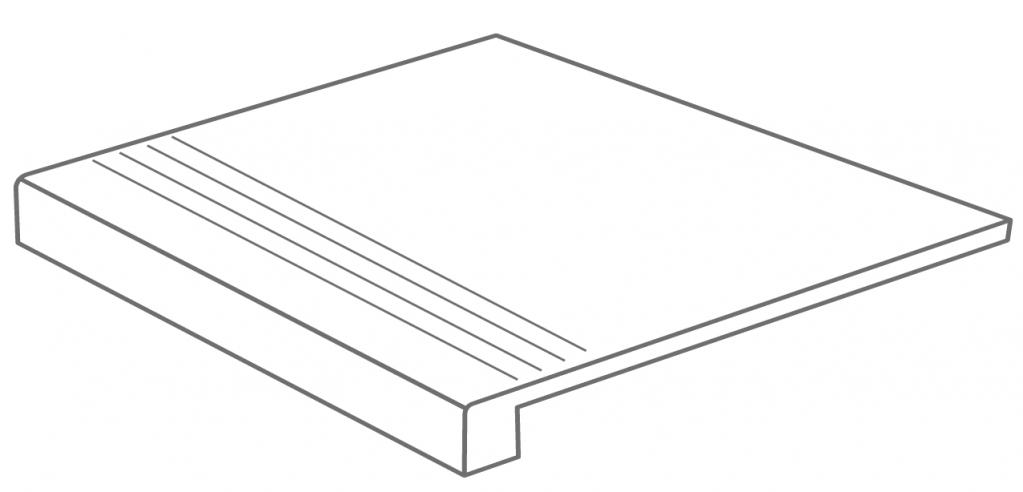 Arcana Lithos Gradone Nube 59,3x59,3 (schodovka) Béžová Lithos Gradoen Nube R.360