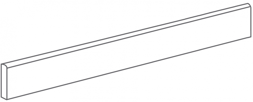 Arcana Lithos Skirting tile Basalto 9,4x80 (sokl) Černá Lithos Skir. Basalto R.328