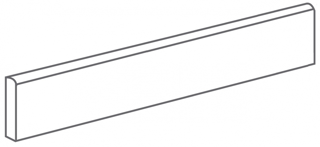 Arcana Lithos Skirting tile Basalto 9,4x44,3 (sokl) Černá Lithos Skir. Basalto R.314
