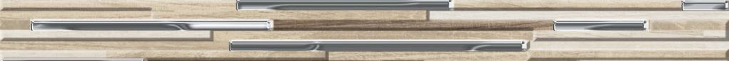 Tuscania North Wind Listello Muretto 3D Warm 4,5x50 Hnědá, Béžová