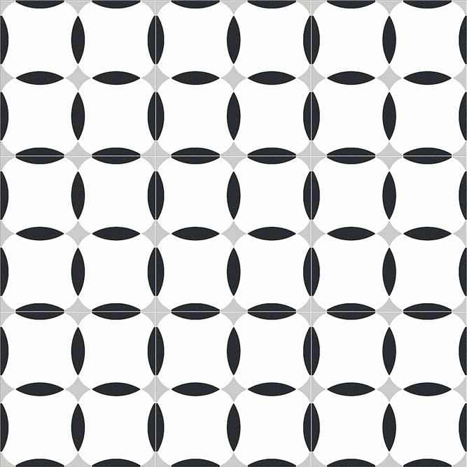 Xclusive Element Geometry 20,5x20,5 Černá, Bílá, Šedá světlá, Černobílá El.Geometry 20,5*20,5