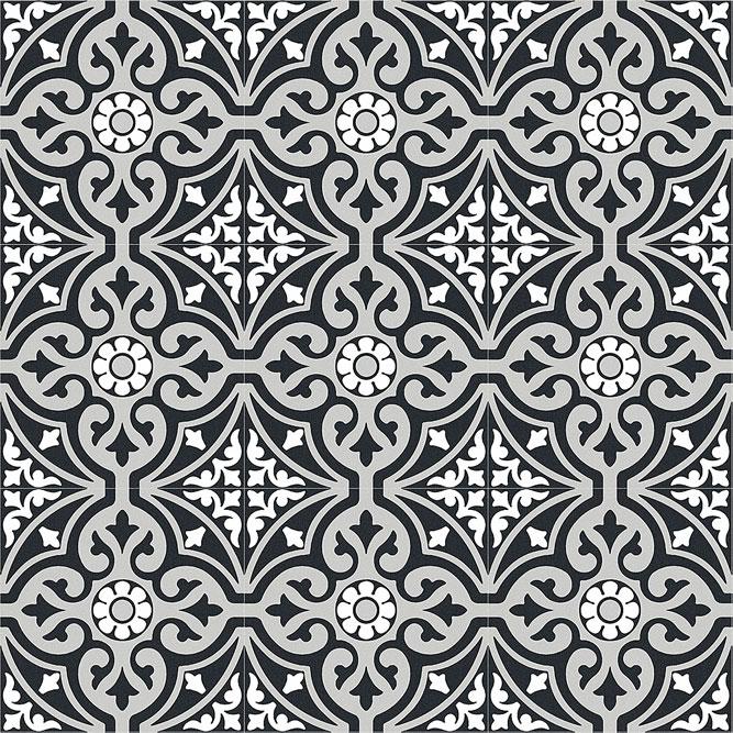 Xclusive Element Arabesque 20,5x20,5 Černá, Šedá, Multicolor, Černobílá El.Arabesque 20,5*20,5