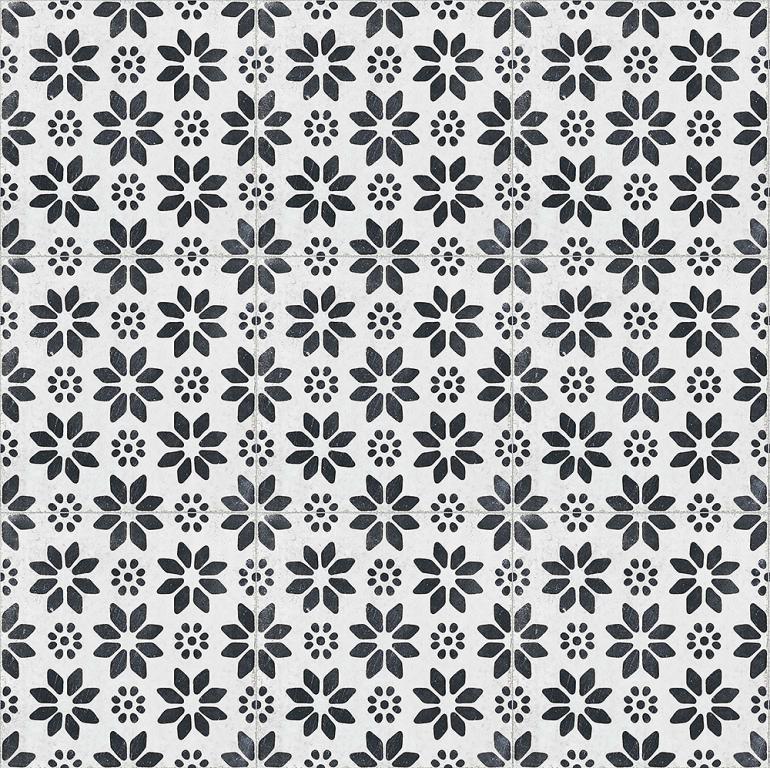 Xclusive Re_Style Lilium 20,5x20,5 Černá, Bílá, Černobílá Re_S.Lilium 20,5*20,5