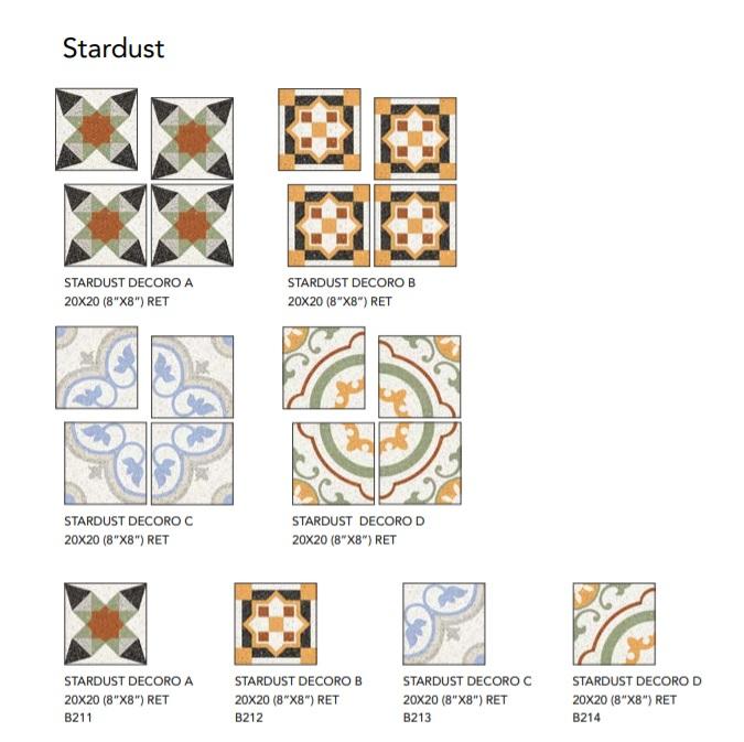 EdimaxAstor Twenty Stardust Decoro B 20x20 Ret Lux Multicolor 36B167