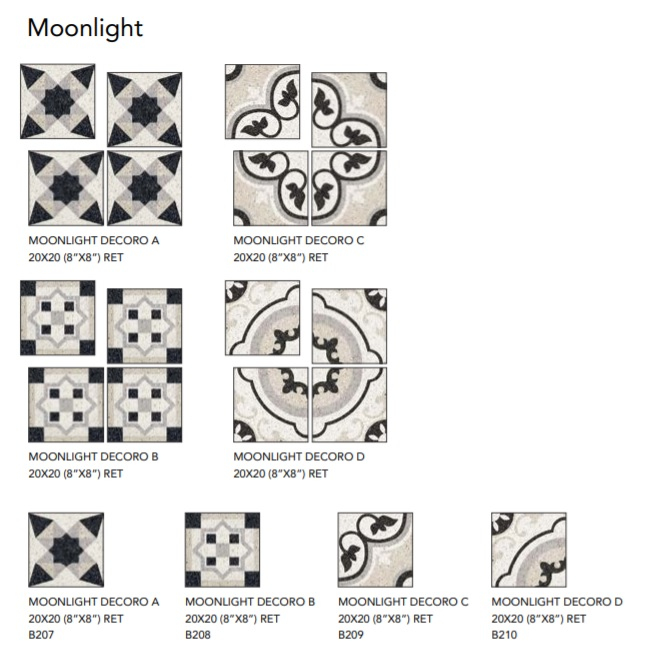 EdimaxAstor Twenty Moonlight Decoro D 20x20 Ret Lux Multicolor 36B182