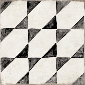 Del Conca/Faetano Sorrento Tramonti 20x20 Černá, Bílá, Černobílá 20SN00TRA