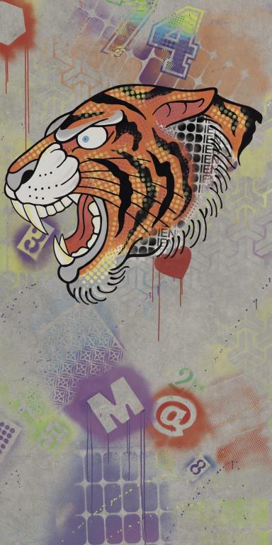Flaviker Hyper Dec. Rose Tiger 160x320 Multicolor 0003186