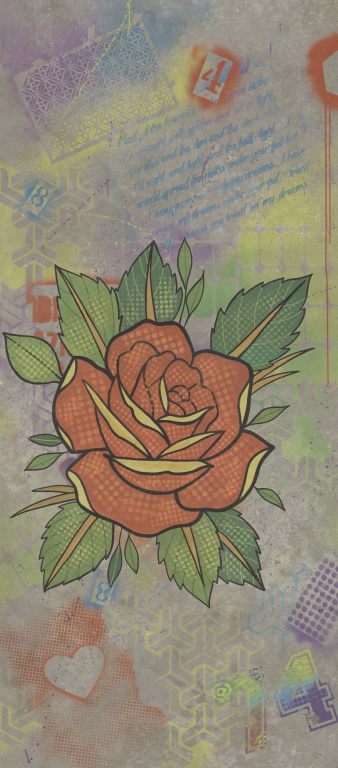 Flaviker Hyper Dec. Rose Grey 120x270 Šedá, Multicolor 0003191