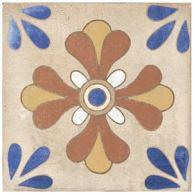Xclusive Caribbean Grenada 20,5 x 20,5 Modrá, Béžová, Krémová, Multicolor CARDEC6